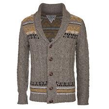 Khujo Pals Pullover grau - Herren Strick Pulli im Cardigan Stil mit Knopfleiste