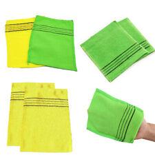 5PC Korean Exfoliating Bath Washcloth Shower Wash Cloths Dead Skin Towel 14*15cm