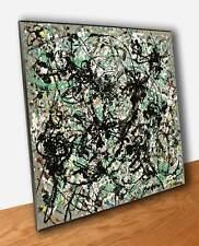 Pollock Number 15 Quadro Pannello Legno Mdf Stampa su Tavola Vernice Pennellate