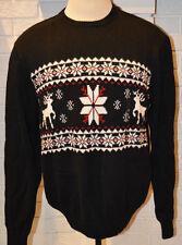 Men's Dockers Black Winter Long Sleeve Pullover Crew Sweater Top S - XL