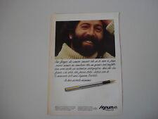 advertising Pubblicità 1980 PENNA PELIKAN SIGNUM