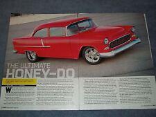 "1955 Chevy 2-Door Sedan Resto-Mod Article ""The Ultimate Honey-Do"""