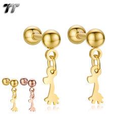 TT Surgical Steel Deer Dangle Cartilage Tragus Earrings (BE180) NEW