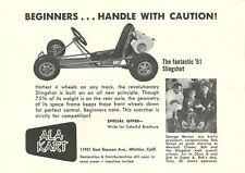 Vintage And Rare 1961 Ala Kart Slingshot Go-Kart Ad