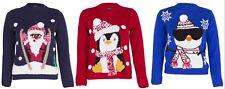 Boys Girls Unisex Christmas Jumper Xmas Kids Sweater 3D Pom Pom Novelty Pullover