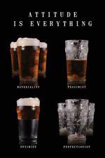 Bier Beer - Attitude - Poster Druck - Größe 61x91,5 cm