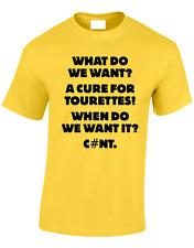 CURE per Tourettes Uomo T Shirt maleducato offensiva DIVERTENTE Gents Casual Top S-XXXL