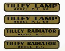 TILLEY LAMP DECALS STICKERS X246, AL21,TABLE MODEL, PL53, R1, R46, SDR,PL55,AL15