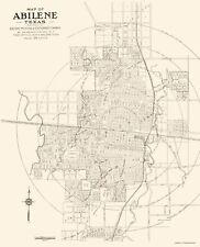 Old City Map - Abilene Texas - Sanborn 1929 - 23 x 28.43