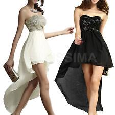 Vestito chiffon paillettes abito cerimonia vestitino party vestito fascia coda