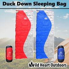 Duck Down Sleeping Bag Water Resistant Outdoor Camping Hiking Envelope