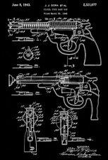 1943 - Pistol Type Dart Gun - Wyandotte - All Metal Products - Patent Art Poster