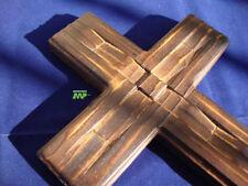 """Rustic Art Wood Cross Santa Fe Hand Carved Medieval Look 11"""""""