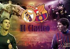 Messi y Ronaldo El Clasico Poster Barcelona Real Madrid Foto Impresión A3 A4