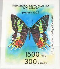 MADAGASCAR MALAGASY 1992 Block 190 S/S 1087 Butterflies Schmetterlinge MNH