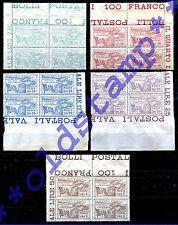 Ex Colonie 1923 Castelrosso Occupazione Italiana 5v. in quartine AF MNH ** LUSSO