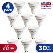 4 10 x GU10 SMD LED 5W GU10 Lightbulbs Lamp Spotlight Downlight A+ Light Bulb