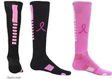 "Girls ""Pink Ribbon""  All SPORT Soccer Volleyball Softball SOCKS ~* NWT *~"