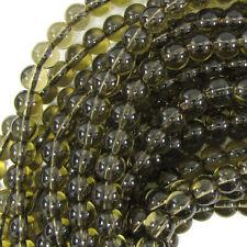 "Smoky Quartz Round Beads Gemstone 15.5"" Strand 4mm 6mm 8mm 10mm 12mm 14mm"