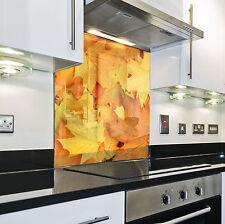 Splashback Paraschizzi Paraspruzzi Rivestimento Cucina foglia natura oro