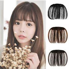 Womens Hair Clip in Front Neat Bangs Straight Bangs Hair Air Extension Hairpiece