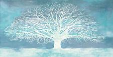 Alessio Aprile: AGUAMARINA Tree Imagen Lienzo Árbol Solitaire Azul Árboles