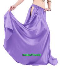 Medium Purple Satin Panel Full Circle Skirt Belly Dance Tribal Slit Oriental