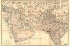 Poster, Many Sizes; Map Of Turkey Persia Iraq Iran India Arabia 1885