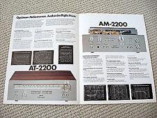 Akai AM-2200 amplifier / AT-2200 radio tuner brochure