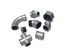 """Galvanizado maleables de hierro de tubo metálico de montaje Bsp Con Rosca que van de 1/4 """" - 2"""""""