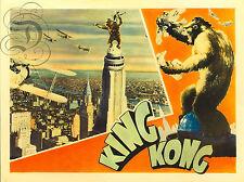 REPRO AFFICHE CINEMA KING KONG 1933 GORILLE  SUR PAPIER 310 OU 190 GRS