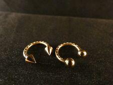Piercing 24 Karat Gold Hufeisen Augenbrauen Lippen Piercing Edelstahl Deluxe