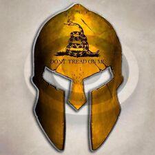 Dont Tread On Me Spartan Helmet Sticker Gun 2nd Amendment Militia Decal