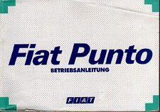 FIAT PUNTO 1 Betriebsanleitung 1995 Bedienungsanleitung Handbuch Bordbuch BA
