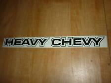 "1971 1972 CHEVROLET MONTE CARLO CHEVELLE HEAVY CHEVY DECAL STICKER 13"" BLACK"