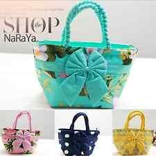 Pataya Thailand Fashion Cotton Handbag Tote Shopper Purse Bag Animal Print bow