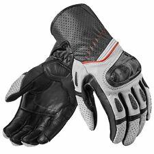 Rev ' It ! Chevron 2 Uomo Moto Guanti di pelle Sport - Bianco Nero
