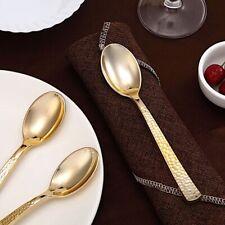 Elegant Textured Design Disposable Plastic Party Spoons Wedding Home Tableware