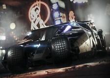 BATMAN BATMOBILE POSTER Dark Knight Arkham Wall Art Print Picture Photo A3 A4