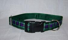 mackenzie tartan green scottish dog collar or lead or complete set