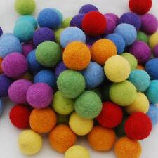 100% Wool Felt Balls - 3cm - 100 Felt Balls - Assorted / Mixed Colours