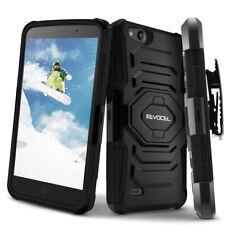 ZTE Tempo X Case, Evocel Dual Layer Holster Case w/ Kickstand & Clip: ZTE Avid 4