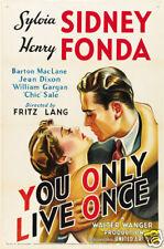 You only live once Henry Fonda vintage movie poster