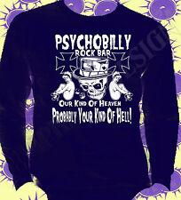Rockabilly Psychobilly Rock & Roll T-Shirt Original Punk Goth langärmlig 50's