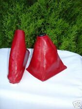 FITS MGF RED GEAR & HANDBRAKE GAITER 95-99 GENUINE LEATHER