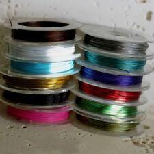 BOBINA 10 M FILO CAVO ACCIAIO gommato NYLON 0,38 MM X 10 M 13 colori disponibili