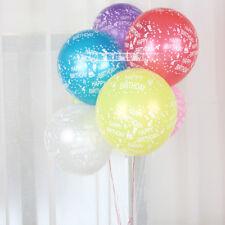 12 / 36 / 72 pk Happy Birthday Print Latex Helium Party Balloons 12 Inch