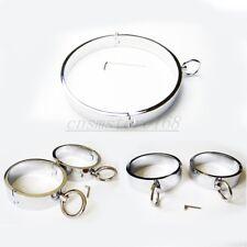 Male Steel Neck Collar Handcuffs Ankle Wrist Cuffs set Restraint Roleplay Slave