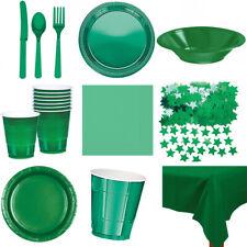 Green partyware Assiettes Tasses Bols Table de confettis couverts Buffet