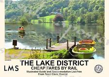 Vintage Style Railway Poster Lake District Grasmere A4/A3/A2 Print